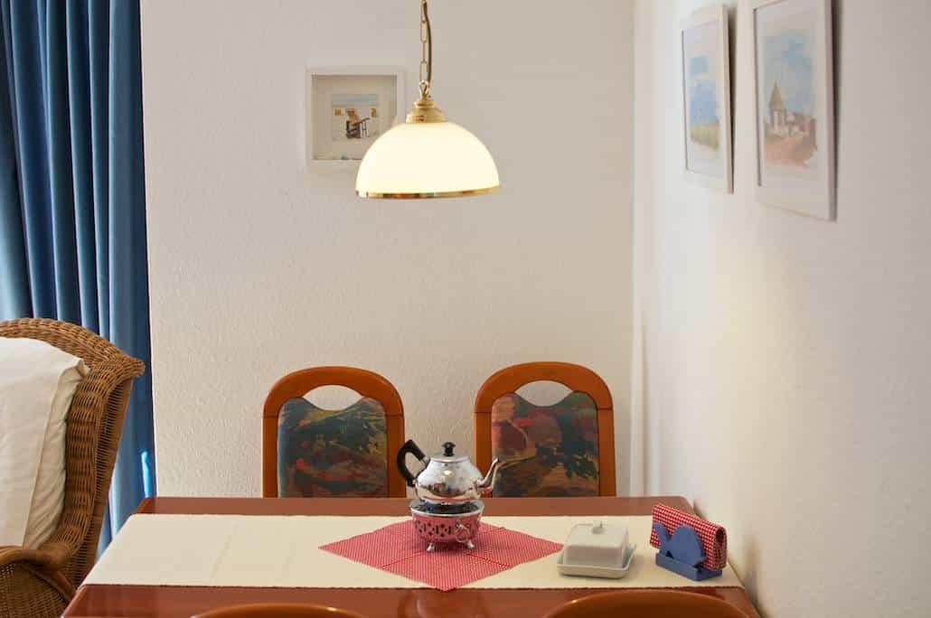 Urlaub auf Juist – Wohnzimmer Essecke FeWo Alte Liebe auf Juist