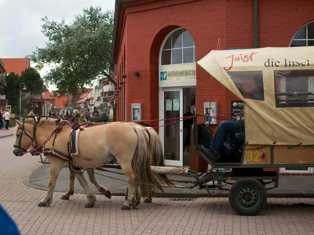 Ein Pferdetaxi auf Juist – Urlaub/Ferien auf der Insel